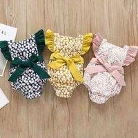 Summer Baby Girl Rompers Bébé nouveau-né Vêtements Nouveau-né Bébé fille Vêtements Fleurs Combignez Body Body