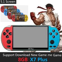 8G Rom X7 PLUS Handheld Game Players 5.1 Inch PSP Screen Portable SFC GBA NES Games Console MP4 5 Player with TV Out TF Video