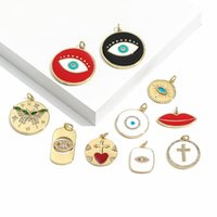Charms Evil Blue Eyes Eye Of Horus Micro Pave CZ Designer Cute Pendant For Jewelry Making Diy Earrings Bracelet Neckalce