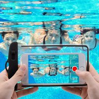 العالمي للماء الحالات الهاتف الخليوي للآيفون 11 برو XS ماكس XR X 8 7 Samsung S10 الذكية الحقيبة الحقيبة الكهروضوئية الكهروضوئية الغوص حقيبة السباحة تحت الماء 6.5 بوصة