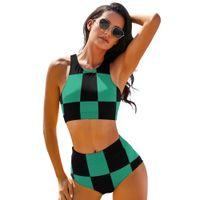 Swimwears Demon Slayer Bikini Swimsuit Sling Beautiful Arena Swimwear Teenage Wholesale Two Piece Bathing Suit