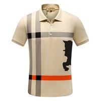 2021 Itália Mens Designer Polo Camisas Homem High Street Embroidery Garter Marcas de Impressão de Qualidade Top Quality Cottom Roupas Tees