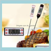 Thermometers Sundries Home Garden Digital Food Cooking Thermometer Probe Meat Household Hold Function Kitchen Lcd Gauge Pen Bbq Grill