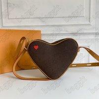Игра на Coeur Womens Designer красный сердечный сердечный мешок монеты кошелек плеча крест тела маленькая сумка сумка круиз 2021 мини-сумки M57456