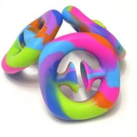 Arco-íris Fidget Agarrar Snap Squeeze Brinquedo Mão Snappers Mãos Força Grip Aperto Grabs Squeezy Toysy Toys Sensory Sensory Relief