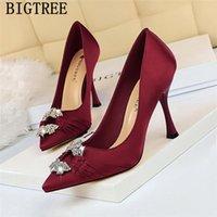 BigTree Shoes Valentine Extreme High Saltos Sexy Senhoras Bombas De Casamento Vermelho Noiva Preto Tacones Mujer Dress