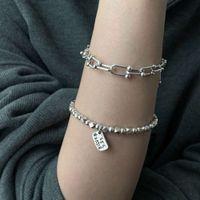 Bracelet Silver Diamond Bead women