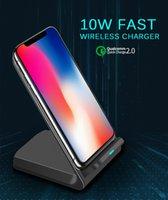 10w rápido carregador sem fio Qi titular padrão de alta velocidade de carregamento estação de doca de estação de celular para iphone se2 x xs max xr 11 pro 8 samsung s20 s10 s9