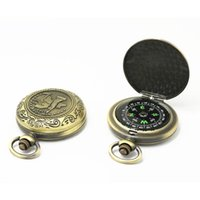 Outdoor Gadgets Portable Metal Retro Flip Pocket Watch Compass Mountaineering Camping Hiking Navigation Compasses For Activities