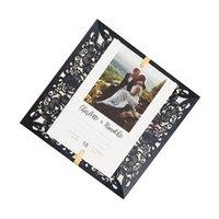 25 مجموعة الليزر قطع بطاقات دعوات الزفاف الأسود والأظرف مخصص تحية عيد ميلاد الحزب تفضل بطاقة طباعة فارغة
