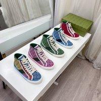 Designer Lady Flat Casual Boots Viaggio Lace-Up Sneaker Lettere Donna Trainisti 100% Pelle Moda Mocassini da uomo Gym Gym Running High Top Donna Scarpe Grande taglia 35-45 US4-US11