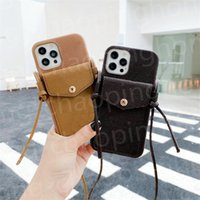 Luxurys Designers Shoulder Handbag Card Package Phone Cases Lychee Pattern Style Card Package For Iphone 12 ProMax 11 XS XSmax xr Wallet Pocket Accessory Bag