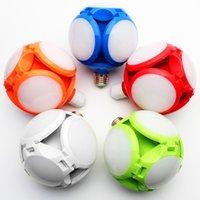 LED Folding Football Bulbs red blue Deformable Light 40W Garage Lighting Shop Lights for 6000K 85-265V crestech
