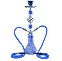 Big acrilico narghilè Shisha Bong Smoking Water Tubo Smoking Set con doppio due tubo flessibile tazza di stelo arabo 5 colori diamante petrolio impianti armadio accessori strumento