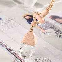 Favor de la fiesta de alta calidad Difusor de perfume Botella de 5 ml Hang alecedor de aire Cap de madera ZZE6199