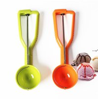 Ice Cream Spoon Ice Ball Maker Ice Cream Scoops Stack Round Fruit Mash Spoon Kitchen Bar Tools Accessories NHD10217