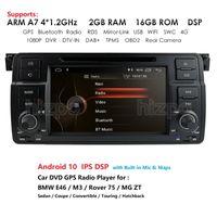 Oyuncu 7 '' Autoradio DSP Araba DVD E46 M3 Rover 75 MG ZT GPS Navigasyon SWC RDS 4G Wifi DAB + Kutusu 2GB + 16GB OBD2