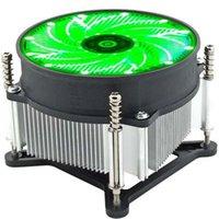 ファンクーリングオフィスの放熱携帯用安定したLED RGBアルミニウムCPU冷却ファンの実用的3ピンラジエーターヒートシンクのためのIntel 115x