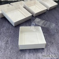 Gift Wrap White Cake Box Cardboard Packaging Window Transparent Lid Cookie Boite A Gateaux Candy Wedding Clothes Dress Guests Boxes
