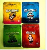 2021 Доказательство ребенка Десять Corp Zushi 3.5G Цветочная упаковочная сумка с 3 цветами Выбор пластиковая упаковка Mylar Bag