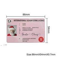 Christmas Gift Santa Greeting Cards 86*54mm Santa Claus Funny Driver's License Card OWE9630
