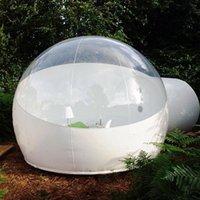 풍선 버블 텐트 호텔 야외 캠핑 돔 무료 펌프 클리어 inflatables 잔디 돔 하이킹 텐트 3m 4m 직경
