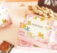 Gift Wrap 21*14*5cm,custom Food Boxes Disposable Containers,wedding Favour Cake Boxes,flower Printing Cardboard