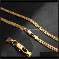 5mm Moda Mens Mulheres Jóias 18K Gold Banhado Colar Colar Para Homens Mulheres Correntes Colares Presentes Atacado Acessórios Hip Hop XF8 DNCPV