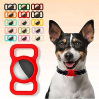 Dog Collars & Leashes Pet Silicone Protective Case For Airtags Collar GPS Finder Cat Loop Tracker Anti-lost Device Accessories