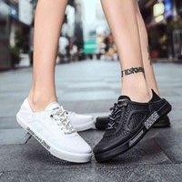 Zapatillas de Hombre 2020 zapatos nuevos hombres Material de PU Material Casual zapatos planos mujer zapatillas de deporte verano luz al aire libre tenis zapatos b4kt #