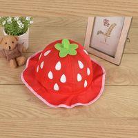 Caps & Hats Girls Hat Fashion Bucket Cute Mesh Sun Cap Dot Infant Strawberry Toddler Beanies Summer Baby Clothing BP52