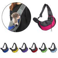 Mesh Pet Hundeträger Outdoor Travel Handtasche Beutel Atmungsaktive Oxford Einzelner Umhängetasche Sling Comfort Taschen Taschen