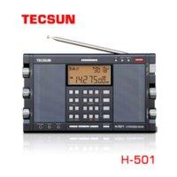 TECSUN H-501 Taşınabilir Stereo Tam Bant FM SSB Radyo Alıcısı Müzik Çalar ile Çift Boynuz Hoparlör Kullanımı Kolay