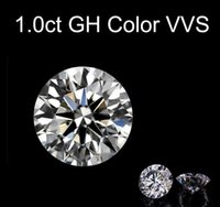 Loose Gemstones Moissanite GH Color 1.0ct 1 Carat 6.5mm Clarity VVS Round Jewelry Bracelet Diamond Ring Material Loose Stones H1015