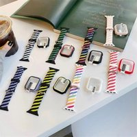 Colorful smart straps Braided Silicone Strap for Apple Watch Sport Bracelet 38mm 40mm 42mm 44mm foriwatch Band Series 6 SE 5 4 3 2