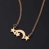Chains European And American Classic Star Moon Sun Shape Five-pointed Necklace Love Couple Gift Jewelry Wholesale