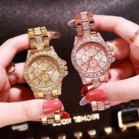 Orologi da uomo e orologi di lusso Designer Designer Brand Orologi Tre Quartz en o Rose Pour Femmes, Faux Trois Yeux, sei Broches, Strass, Cadeau
