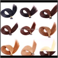 Pre-Bonded Productslasting 2Years Virgin Brazilian Cuticle Aligned Remy Nano Ring Human 20Inch Pre Bonded Hair Extensions Drop Delivery 2021