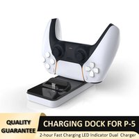 Dual Charger Dock for Sony Playstation 5 PS5 Game Controller Type C Safe Fast Charging