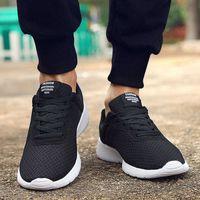 2021 Primavera New Hombres Zapatos Casuales Lace Up Hombres Zapatos Ligeros Ligeros Cómodos Zapatillas de deporte para caminar TENIS