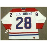 Пользовательские 009 Молодежные женщины Vintage # 28 Eric desjardins Montreal Canadiens 1993 CCM Hockey Jersey Size S-5XL или пользовательское любое имя или номер