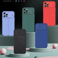 Lens Slide Pebbled Print TPU Cell Phone Cases for iPhone 7 8 Plus XR XS 11 Pro Max 12 Mini SE2 Sam S20 S21 FE Moto Stylus 5G 2021 Xiaomi Redmi Note 10 Huawei P40 Lite Back Cover