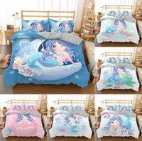Bedding Set Crib Duvet Cover Set for Baby Kids Children Pillowcase Cartoon Mermaid Edredones Ninos Girls Princess Quilt Cover