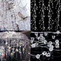 100-150cmアクリルクリスタルビーズカーテンガーランドの結婚式の装飾の枝の文字列ビーズパーティーの装飾品
