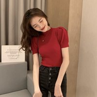 Women's T-Shirt Base Coat Short Sleeve 2021 Summer Dress Style Foreign Round Neck With Slim Fitting And Versatile