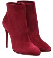 Elegant Winter Brands Women's Red Bottom Boots Lady Booty Famous Dress Party Wedding High Heels Reds Sole Booties Many Style,With Box,EU34-43