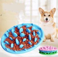 애완 동물 강아지 그릇 강아지 실리콘 천천히 먹는 그릇 안티 질식 식품 물 접시 고양이 개 - 천천히 먹는 먹이 그릇 피더 3 색 OWF10775