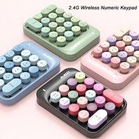 Keyboards 18 Keys 2.4G Wireless Keyboard Mini Numeric Keypad Computer Digital For PC Accounting Tasks Pink