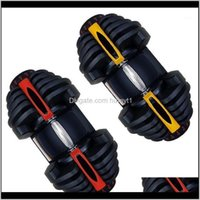 Dumbbells Black Arm Muscle Strength Weight Lifting Training Matic Adjustable Dumbbell 40Kg 90Lbs1 Vvhmx Jins9