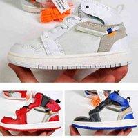 Signé conjointement des chaussures d'enfants High og 1s Chicago 1 bébé garçon fille Sneaker Baskets Toddlers Né Baby Baskers Childrenwear